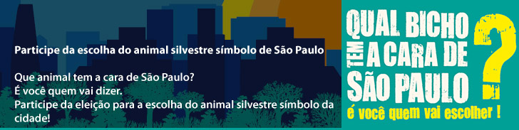 Participe da escolha do animal silvestre símbolo